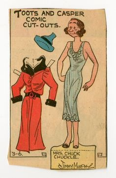 78.2533: Mrs.Chuck Chuckle | paper doll | Paper Dolls | Dolls | National Museum of Play Online Collections | The Strong