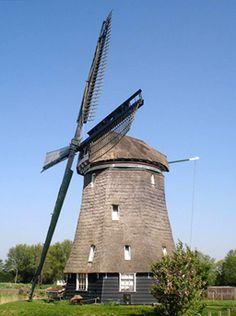 Polder mill Molen A, Sint Pancras, the Netherlands.