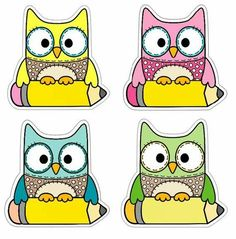 Welcome to school Owl Theme Classroom, Preschool Classroom, Preschool Activities, School Labels, Name Cards, Classroom Organization, Back To School, Clip Art, Teaching