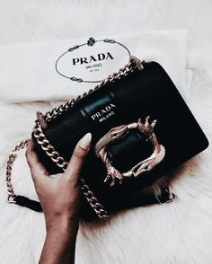 Explore the latest selection of Prada Bags today. Build your forever wardrobe with Farfetch & choose ✈ express delivery at checkout. Prada Backpack, Prada Bag, Prada Handbags, Handbags Michael Kors, Purses And Handbags, Cheap Handbags, Coach Handbags, Luxury Bags, Chanel Bags