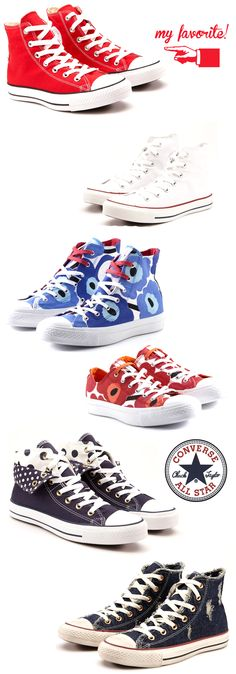 ♥ Chuck Taylors--like the Marimekkos ! ( why didn't I get a pair last time passing through Helsinki airport duty free ? Cool Converse, Converse Style, Outfits With Converse, Converse Sneakers, Converse All Star, Sock Shoes, Cute Shoes, Me Too Shoes, Shoe Boots