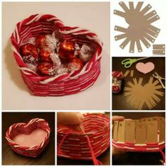Make a heart shaped basket.