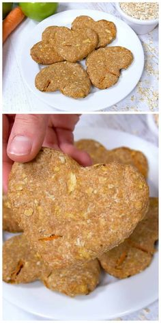 How to make Apple Carrot Dog Biscuits is an easy recipe. Homemade dog biscuits are the perfect hostess gift or stocking stuffer for your dog-loving friends. Puppy Treats, Diy Dog Treats, Healthy Dog Treats, Pumpkin Dog Treats, Dog Biscuit Recipes, Dog Treat Recipes, Dog Food Recipes, Dog Biscuit Recipe Easy, Homemade Dog Biscuits Recipe Easy
