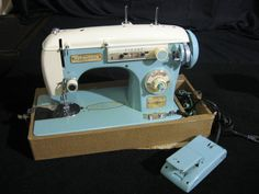 Vintage New Home 6033 Zig Zag Sewing Machine Needs Minor Repair #NewHome