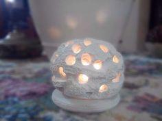 Lampada in polvere di ceramica e polvere di pietra leccese