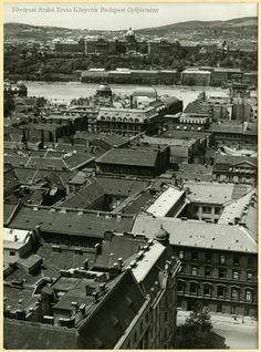 1930-as évek. Kilátás a Bazilika tornyából Old Pictures, Old Photos, Rooftops, Budapest Hungary, Vintage Photography, Historical Photos, Austria, Retro Vintage, Landscapes