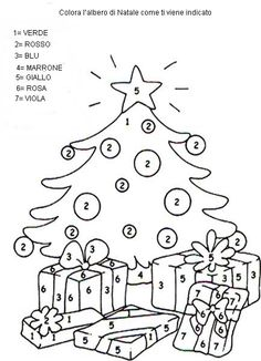 Christmas Math, Christmas Colors, Christmas Crafts, Christmas Decorations, Xmas, Math For Kids, Diy For Kids, Christmas Cards Drawing, Italian Greetings