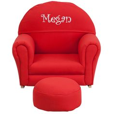 Personalized Red Rocker Chair SF-03-OTTO-RED-TXTEMB-GG
