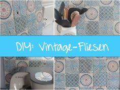 DIY: Vintage-Fliesen selber machen - Variante #1 - Fototransfer - YouTube