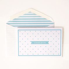 Spot notecards - choose your own monogram #letterlovedesigns