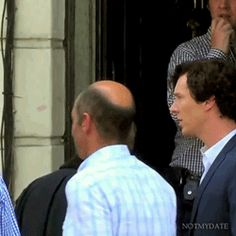 This is hilarious. He steps up on the stoop to be eye to eye with Benedict xD