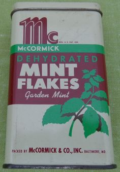 McCormick Spice Tin Dehydrated Mint Flakes