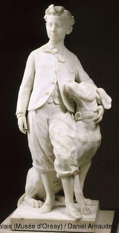 Musée d'Orsay Jean-Baptiste Carpeaux (1827-1875) Le Prince impérial et son chien Néro 1865 groupe en marbre H. 140 ; L. 65,4 ; P. 61,5 cm