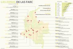 Palma, café y maíz son los cultivos en las 23 zonas Farc