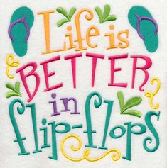 Life is Better in Flip Flops design (L2256) from www.Emblibrary.com