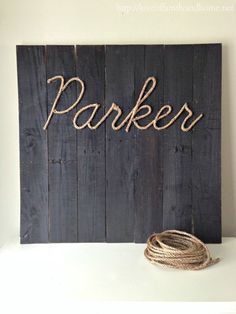 Step-by-step tutorial to create this adorable, personalized sign.