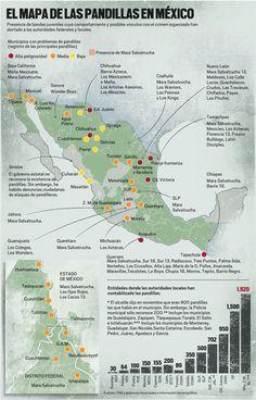 El mapa de las pandillas en Mexico