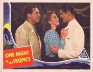 One Night in the Tropics, Allan Jones, Nancy Kelly, Robert Cummings, Abbott and Costello Robert Cummings, Abbott And Costello, Original Movie Posters, Vintage Movies, First Night, Travel Posters, The Originals, Music, Musica