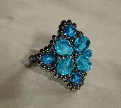 beaded ring by Melinda