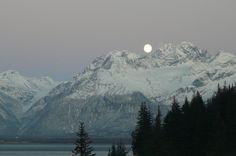 Moonrise in winter, Valdez, Alaska #visitvaldez #Explore_valdez #alaska