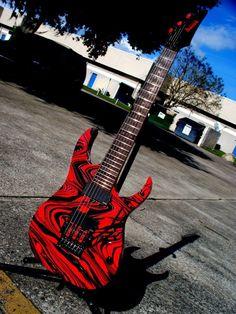 custom guitars Ibanez RG 7 string custom by LiveWire Guitars LLC Ibanez RG 7 string custom by LiveWire Guitars LLC Unique Guitars, Custom Guitars, Vintage Guitars, Guitar Amp, Cool Guitar, Guitar Room, Gretsch, Gibson Les Paul