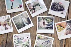 Créer un dessous de verre Polaroid - carreaux blancs SDB + vernis colls