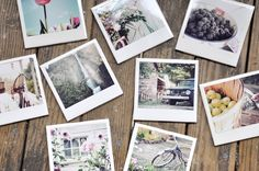 """DIY: Homemade Faux Polaroid Coasters...These Are A Super Cool Idea To Help Show Off Your Photos...NOTE: In Tutorial, They Use Mod Podge...But It Seems To Leave A """"Ring"""" On The Coaster If A Hot Mug Is Set On It,(It Does Ok With Cold, Just Not Hot)...Also, Some Suggestions Included """"Just Using Acrylic Spray"""" (Please Read ALL The Responses In The """"Comments"""" At The End...Either Way, This Is A Great Idea...Click On Picture For Tutorial..."""