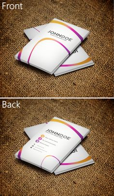 Colorful Business Card by ~SemihYilmaz on deviantART