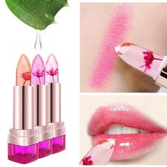 Temperate color changing lipstick with flower