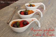 Peperoni grigliati con olive di Gaeta