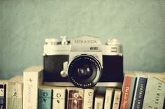 camera and books