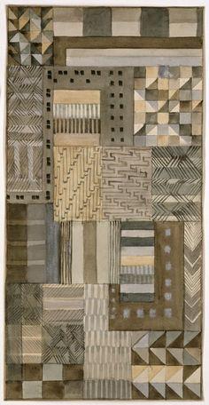 Gunta Stolzl  Design for fabric in Jacquard technique  1927  17.3x34.5 cm  Bauhaus-Archiv Berlin