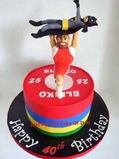 Weightlifting & Batman cake - 40th birthday cake for a weightlifting and Batman fan. www.facebook.com/thecakeofit thecakeofit@gmail.com 13th Birthday Parties, Themed Birthday Cakes, Third Birthday, Themed Cakes, Birthday Ideas, Crossfit Cake, Crossfit Box, Gym Cake, Celebration Cakes