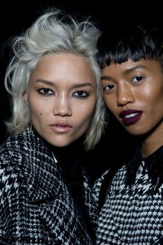 """Backstage at DKNY, there were models... and then there were NYC It girls. Right alongside Charlotte Carey, for instance, were the likes of Angel Haze and DJ Chelsea Leyland. And the best part? They got to pick their own hair and makeup looks. Five minutes before showtime, hair stylist Eugene Souleiman looked at all the pandemonium and laughed. """"This is what New York City has always been about,"""" he said. """"Everyone is individual. I can feel something bubbling up now and moving forward and…"""