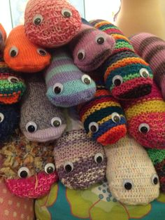 After the Yarn Bomb Bute trail event, all the material was recycled or made into products for good causes. These snakes became draught excluders and/ or family pets, raising funds for local charities Door Draught Excluder, Draught Excluders, Local Charities, Door Draft, Yarn Bombing, Good Cause, Snakes, Raising, Dinosaur Stuffed Animal