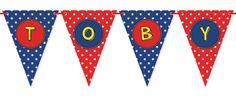 Super Hero Bunting. Perfect for kids parties and kids bedroom decor.