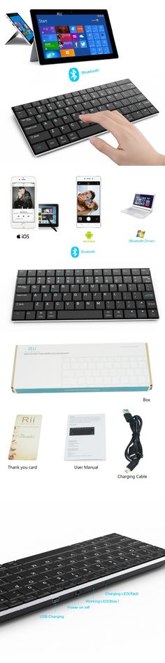 Free Shipping Ultra-slim Original Rii Mini i9 K09 Wireless Bluetooth Keyboard for Tablet Andorid TV Box Notebook Mac PC Teclado
