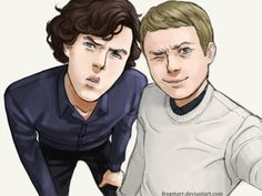"""""""John and Sherlock, messing about with John's new camera :)"""""""