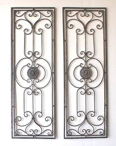 Abrianna Tuscan Large Scrolling Wrought Iron Wall Grille Set Cheap-Chic Decor http://www.amazon.com/dp/B002VRVNDS/ref=cm_sw_r_pi_dp_upbVwb0RP9S0R