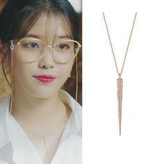 Feeling lavish and extravagant? Be like Jang Man Wol, the CEO of Hotel Del Luna, who loves fancy things just like this necklace. Get this latest item inspired from newest Korean Drama Hotel Del Luna to complete your posh look! Crystal Earrings, Women's Earrings, Fashion Necklace, Fashion Jewelry, Korean Earrings, Iu Fashion, Plaque, Luxury Jewelry, Or Rose