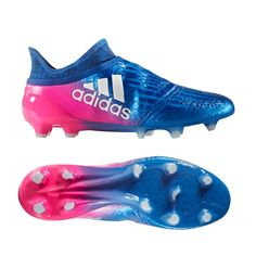 11c46595346 Adidas X 16+ Purechaos FG Soccer Cleats (Blue White Shock Pink)