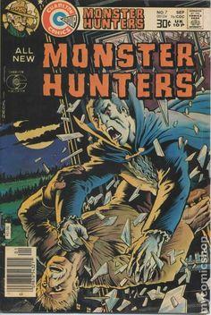 Monster Hunters cover by Mike Zeck, Charlton Comics Sci Fi Comics, Horror Comics, Marvel Dc Comics, Vintage Comic Books, Vintage Comics, Comic Books Art, Comic Art, Charlton Comics, Creepy Monster