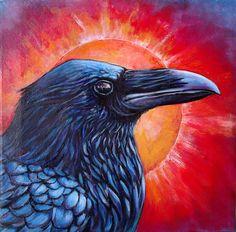 Raven Sunrise, 2014 by Ann Mcivor - Pencil Drawing