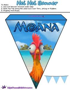 Hei Hei Printable Banner by SKGaleana | Free Moana Printable Crafts, Activities and Party Supplies