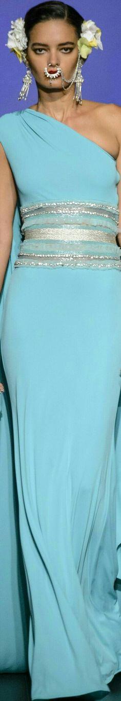 Blue Crush, Evening Dresses, Formal Dresses, Naeem Khan, Beautiful Gowns, Product Description, Sari, Cocktail Dresses, Fashion
