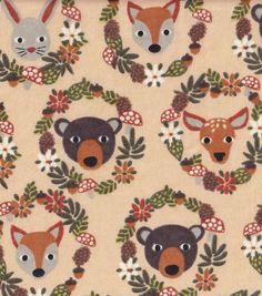 Snuggle Flannel Fabric-Animal Wreaths