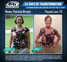 before and after advocare you can have these results