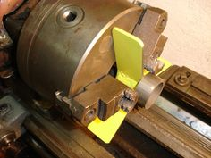 Pic Only: ClampingThin Round Items In Lathe