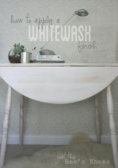 how to apply a whitewsh finish