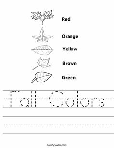 Fall Colors Worksheet - Twisty Noodle